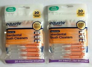 2 Pack of Equate Interdental Standard Brush Cleaners 20ct each