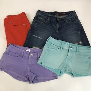 Shorts Pants Lot of 4 Size 5 Rue21 B Chip and Pepper Colored Denim Orange Purple