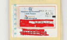 MARCA DA BOLLO DA €. 2,33 EMESSA 19.03.2019 ( INTEGRA CON SUPPORTO ORIGINALE)