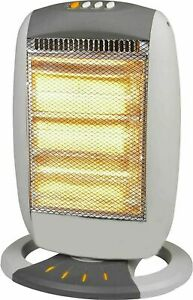 1200W Halogen Heater Instant Portable Electric Oscillating 3 Bar Home Office UK
