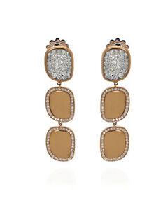 Roberto Coin 18k Rose Gold Diamond 2.08ct Earrings 8881804AXERX