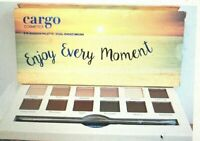 """Cargo Cosmetics Eye Shadow Palette """"Enjoy Every Moment"""" Dual Ended Brush New!!"""