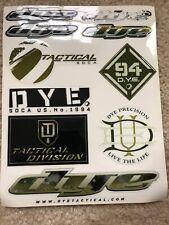 Dye Tactical Paintball Sticker Sheet
