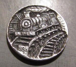 Deep Carved Hobo Nickel, Train