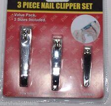 3 Piece Nail Clipper Set Adult Toe Finger Child & Infant Set Cutter Children's