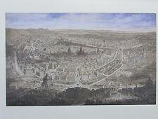 Gustav Veith WIEN AUS DER VOGELSCHAU 1873 Reproduktion Kunstdruck print