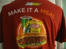 NWOT Subway Graphic T-Shirt Size XL Kung Pao Pork Lays Chips Sandwich Meal