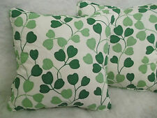 "ASTA COTTON FABRIC BY ARTHUR SANDERSON 1 PAIR OF 18"" CUSHION COVERS ZIPPED"