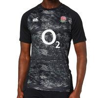 Canterbury England 2019/20 Mens Vapodri Graphic Training T-Shirt Tee Black