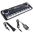 61/54 Key Digital Piano Electronic Keyboard Portable Headphone Microphone photo