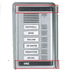 Coppia di testate di ricambio per pulsantiere kombi Urmet serie 825