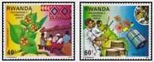 Timbres Rwanda 876/7 ** lot 25847