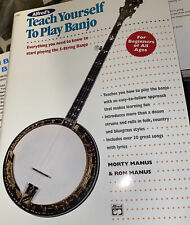 Alfred's Teach Yourself To Play Banjo Beginners Of All Ages 1996 ed Great Cond