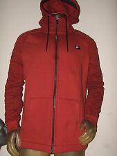 New Men's Large Nike Sport Logo Dark Red Cheyenne Quilted  Zip Up Hoodie Sweater