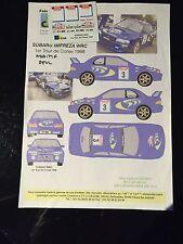 DECALS 1/24 SUBARU IMPREZA WRC LIATTI RALLYE TOUR DE CORSE 1998 RALLY HASEGAWA