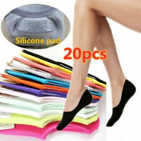 10Pairs Women Cotton Socks Ankle Invisible Low Cut No Show Nonslip Boat Liner US