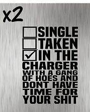 (2) Single Taken Charger Decals - Stickers Vinyl Hellcat Decal SRT Hemi SXT