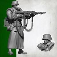 1:35 Scale Resin Soldier German Super Double Gun Soldier Models BIN AUS J1E1