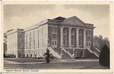 Baptist Church in Baxley GA Postcard 1941