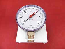 Afriso RF100 Manometer G 1/2 rad D101 0/6bar NEU OVP