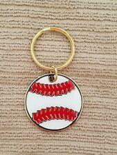 Baseball Key Ring, 1 1/2 inch Color Baseball Brass Keychain