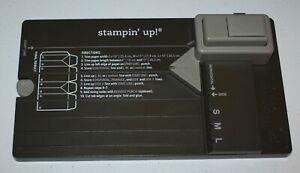 Stampin Up Retired GIFT BAG PUNCH BOARD Scoring Tool NEW NIB