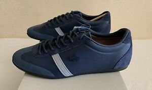 New LACOSTE MOKARA 117 1 CAM Sneakers Leather Suede For Men's  Sz 10.5 Navy