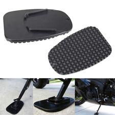 Black Motorcycle Bike Kickstand Side Kick Stand Pad Plate Base For Honda Harley