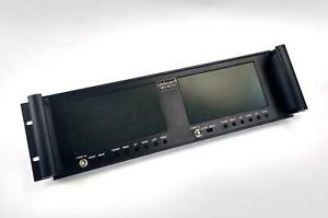 DELVCAM DELV-RCLCD Dual 7 inch Rack Mount LCD Monitor Rear / Front BNC - WORKING