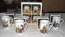 Norman Rockwell Collector's Mug Set in Original Box