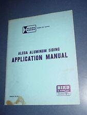 Vintage 1960 Alcoa Aluminum Siding Application Manual installation