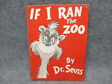 Dr. Seuss Book If I Ran The Zoo 1950 Random House SHOWS OVERALL WEAR