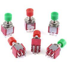 Cylewet 6pcs Ac 2a 250v5a 120v 6mm Pins Momentary Push Button Switch Dpdt No Nc