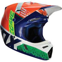 FOX V3 DIVISION MOTOCROSS MX HELMET - ORANGE / BLUE enduro bike mtb bmx MIPS