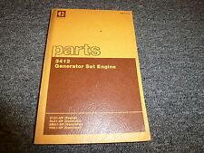 Caterpillar Cat 3412 Generator Set Engine Parts Catalog Manual Book