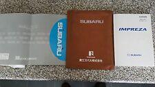 Subaru Impreza WRX STI JDM 2001 - RARE Japanese service book + manuals + wallet