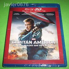 CAPITAN AMERICA EL SOLDADO DE INVIERNO BLU-RAY 3D + BLU-RAY NUEVO Y PRECINTADO