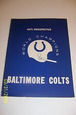 1971 BALTIMORE COLTS Prospectus SUPER BOWL Champions EVERYTHING ABOUT THE COLTS