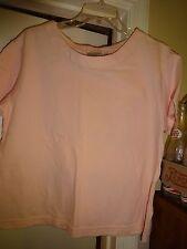 Villager Sport A Liz Claiborne Co Pink Size Large Short Sleeve Knit Top Cotton