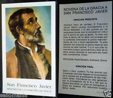 ESTAMPA RELIGIOSA SAN FRANCISCO JAVIER   SAINT FRANCIS XAVIER HOLY CARD   CC188