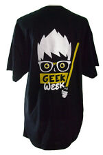 Geek Week The Geek Awakens Tee Shirt Black Funny Light Saber Size Large