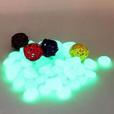 10 Pcs Glow In The Dark Colorful Stones Pebbles Rocks Aquarium Fish Tank Decor