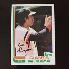 1982 Topps DAVE BERGMAN #498  San Francisco Giants