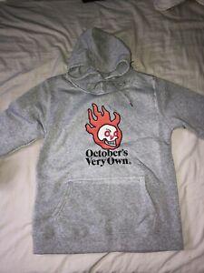 OVO Flaming Skull Hoodie Mens XS