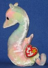 TY NEON the SEAHORSE BEANIE BABY - MINT with MINT TAGS