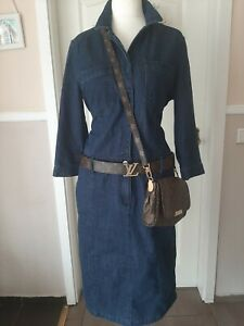 S.OLIVER Jeanskleid blau Casual Kleid Damen Gr. DE 40 Neu  mit Etikett  Top!!!!@
