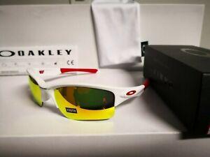 NEW OAKLEY - Quarter Jacket - Polished White / Fire Iridium, Youth, OO9200-0361