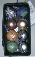 Unique set of 8 Christmas Baubles hand decorated by Liverpool Artists in 2007