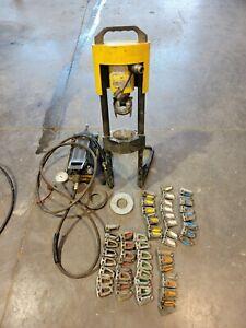 Parker Hydraulic Hose Crimper FULL DIE SET , with enerpac pump