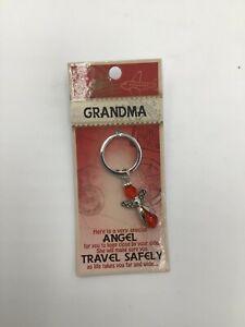 GRANDMA guardian angel key ring gem watching over you safe travels keyring